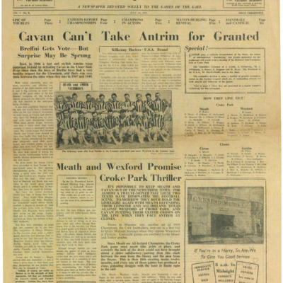 The Gaelic Sportsman Vol. 1, No. 3. 1 July 1950