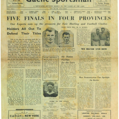 The Gaelic Sportsman Vol. 1, No. 4. 15 July 1950