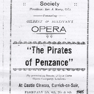 Carrick-on-Suir Operatic Society performance of The Pirates of Penzance 1945