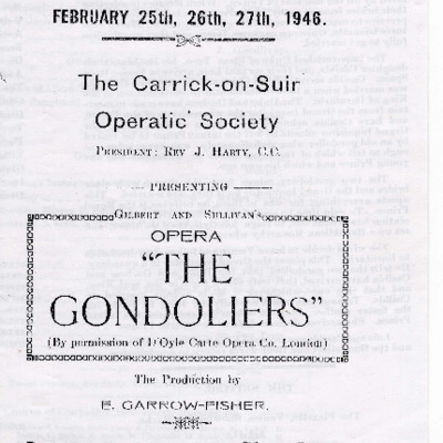 Carrick-on-Suir Operatic Society performance of The Gondoliers 1946
