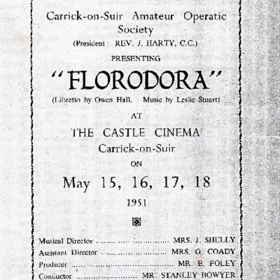 Carrick-on-Suir Amateur Operatic Society performance of Florodora 1951